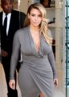 Kim Kardashian Busty in a dress, at Dash boutique in West Hollywood, Los Angeles