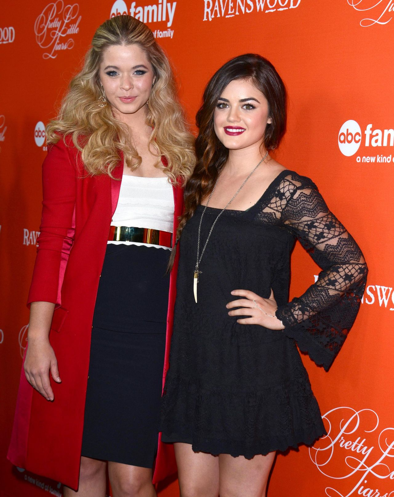 "Lucy Hale and Sasha Pieterse - ""Pretty Little Liars"" Halloween Episode Red Carpet"