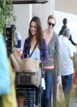 Mila Kunis Street Style - Grocery Shopping at a Pavilions in Los Angeles