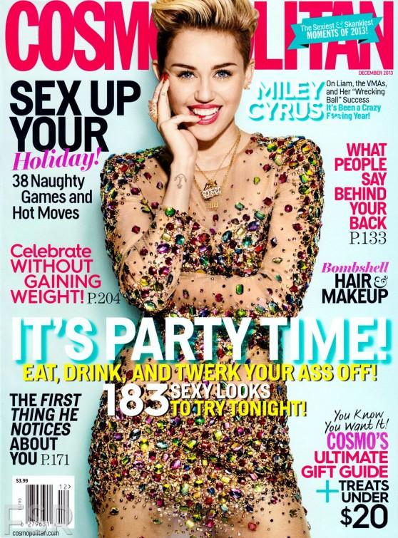 Miley Cyrus in COSMOPOLITAN Magazine - December 2013 issue