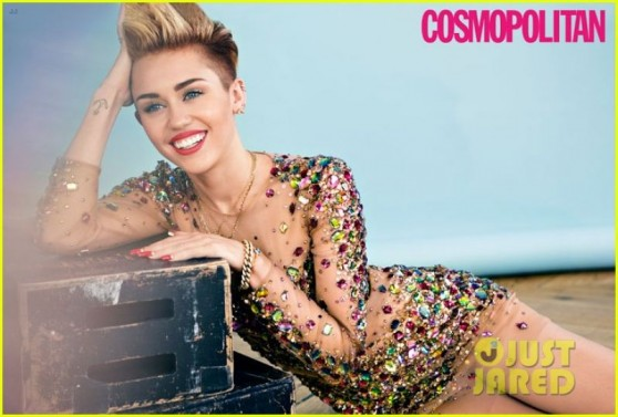 Miley Cyrus in COSMOPOLITAN Magazine - December 2013 issue