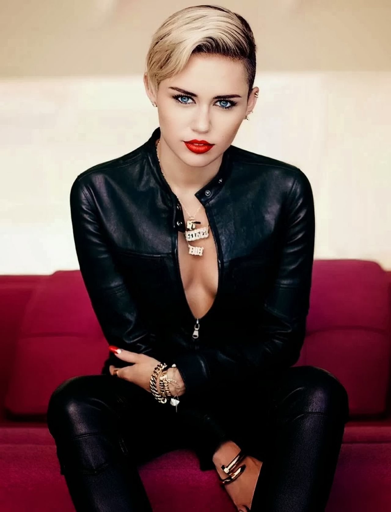 Miley Cyrus in Fashion Magazine, November 2013 Issue