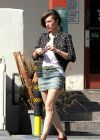 Milla Jovovich seen out and about in Los Angeles - October 2013
