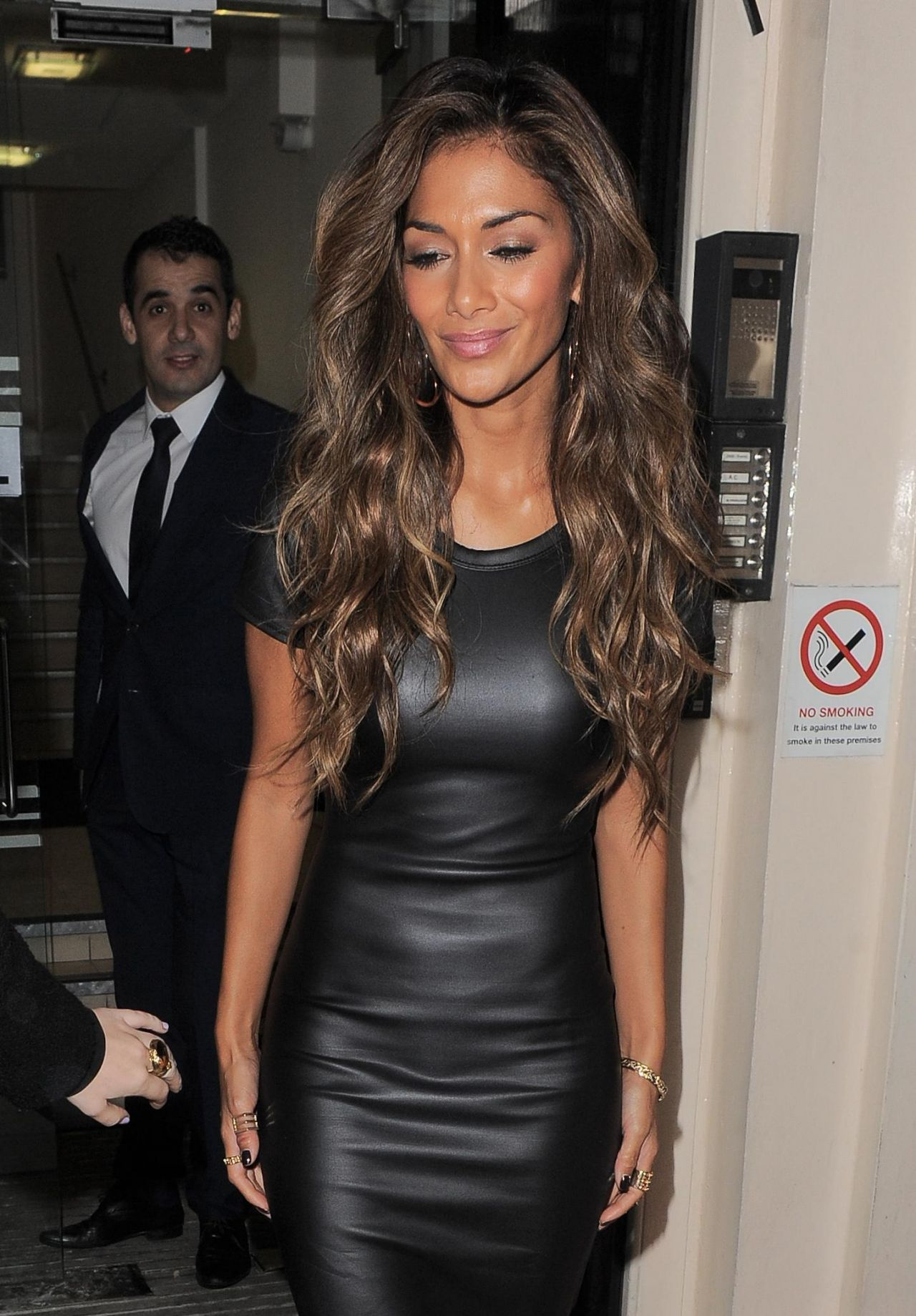 Nicole Scherzinger Sizzles Street Style - in Leather Dress