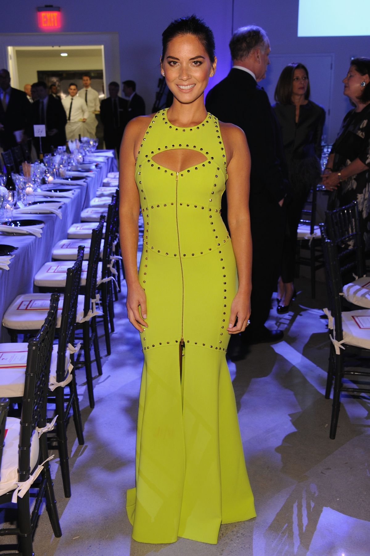 Olivia Munn In Citron Dress God S Love We Deliver Golden