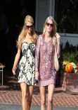 Paris and Nicky Hilton - Grab Lunch Together at Fred Segal in Los Angeles