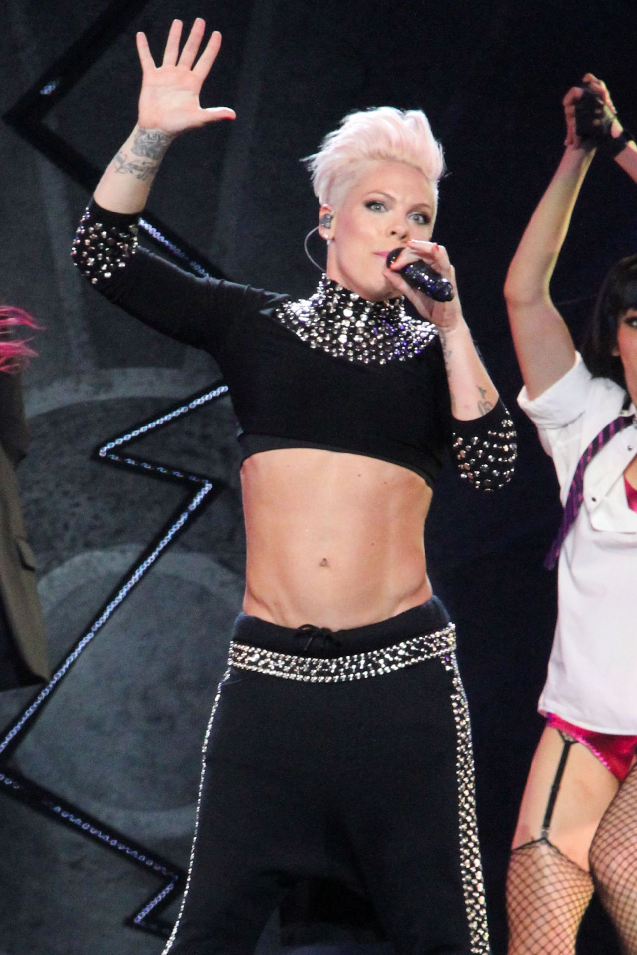 Pink Performing Live at Staples Center in Los Angeles
