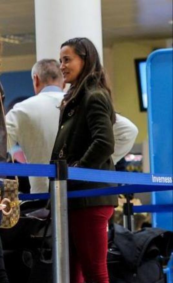 Pippa Middleton at the Airport in Inverness, United Kingdom
