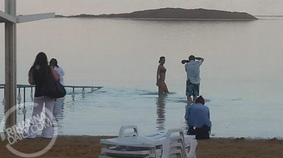 Rihanna in Bikini - Visits the Dead Sea in Israel