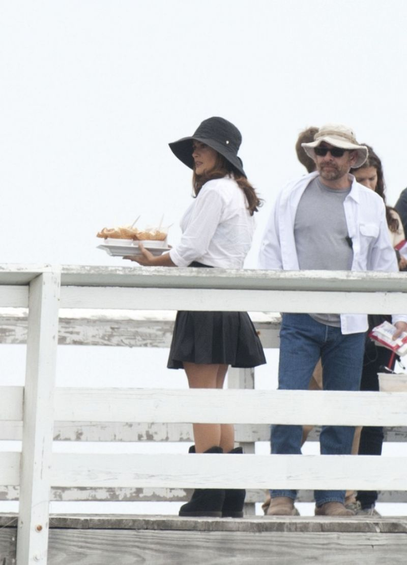 Salma Hayek - on the Set of HOW TO MAKE LOVE LIKE AN ENGLISHMAN in Los Angeles