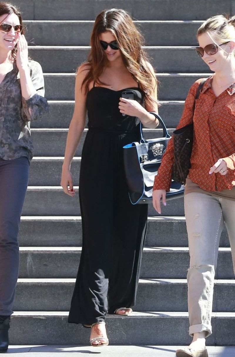 selena gomez street style  going to lunch in century city