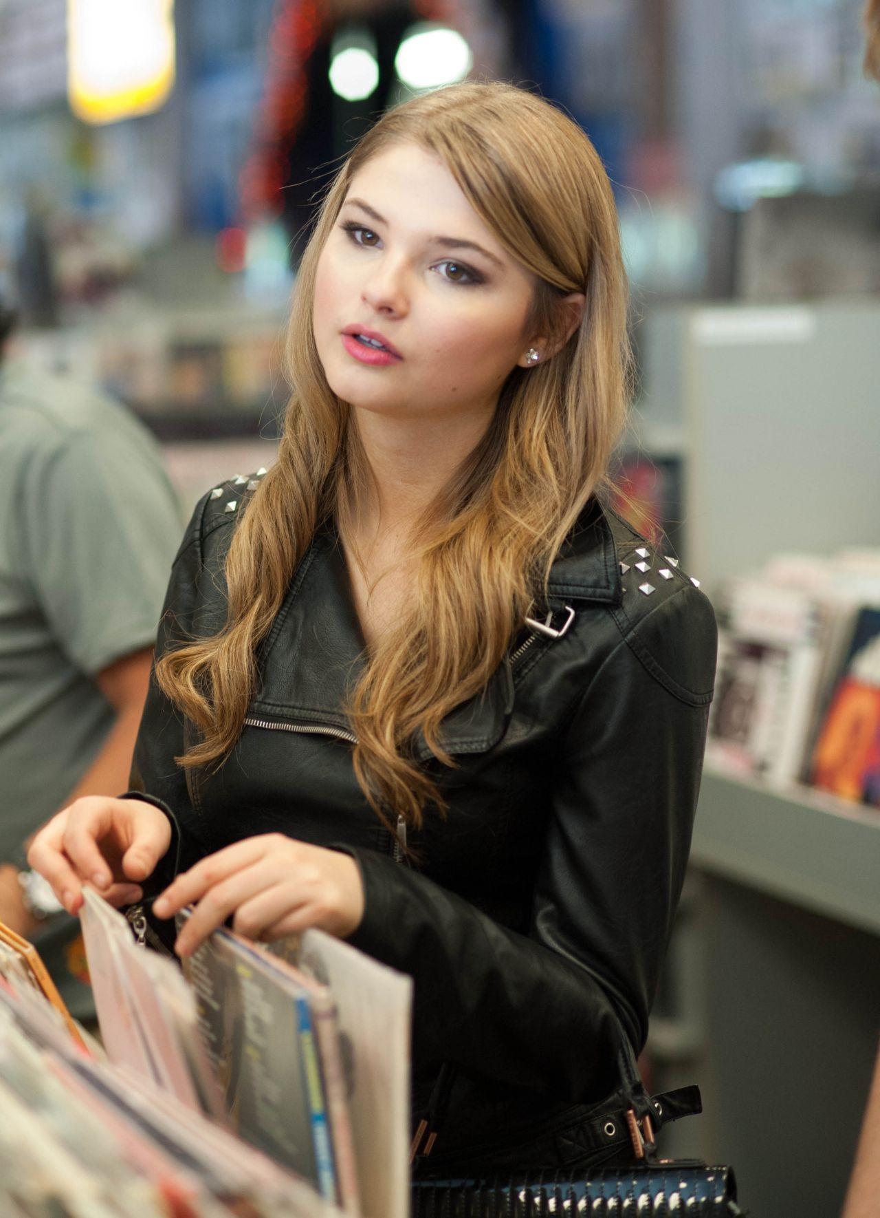 Stefanie Scott at Amoeba Music Store in Los Angeles - Part II