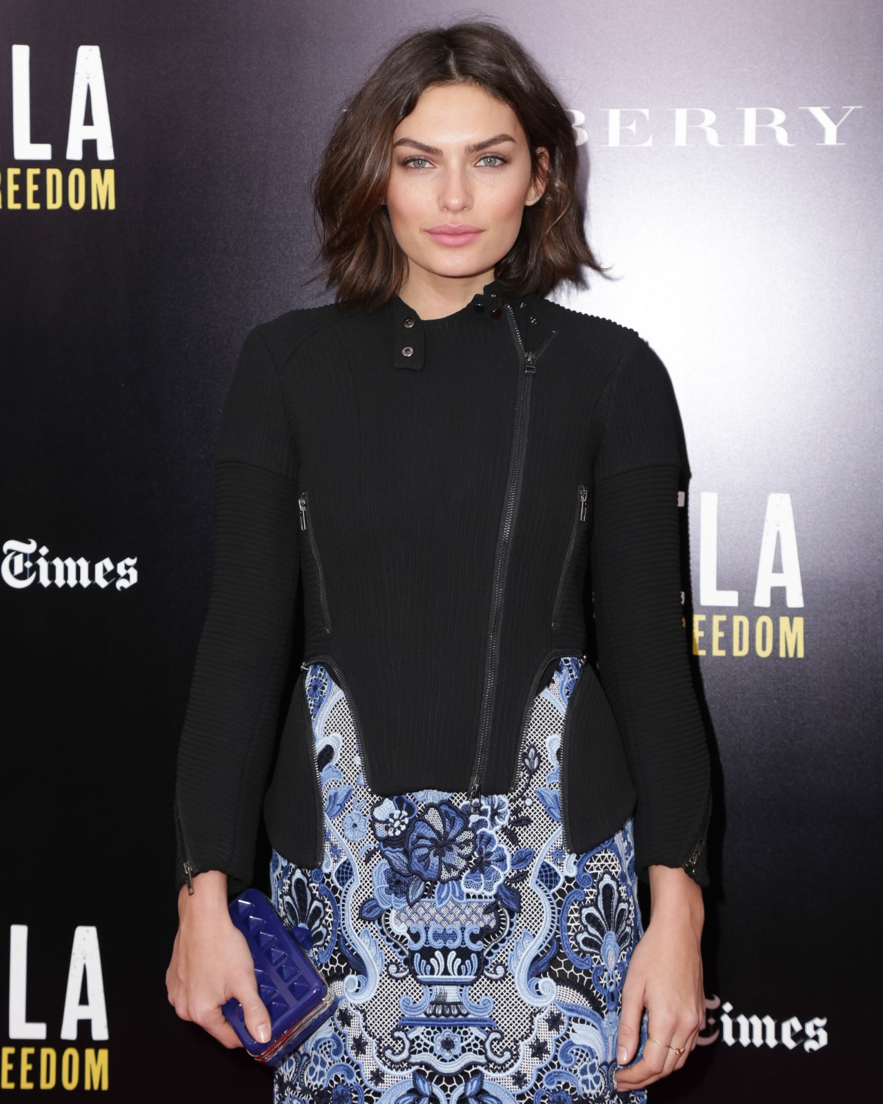 Alyssa Miller on Red Carpet – MANDELA: LONG WALK TO FREEDOM Movie Screening in New York City