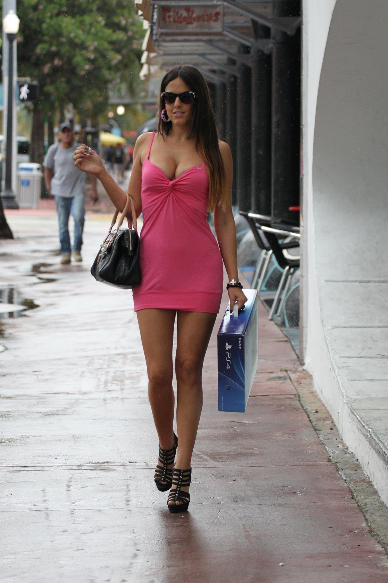 Claudia Romani Street Style Shopping In Miami November 2013 Fashion Paaaarty Datenight