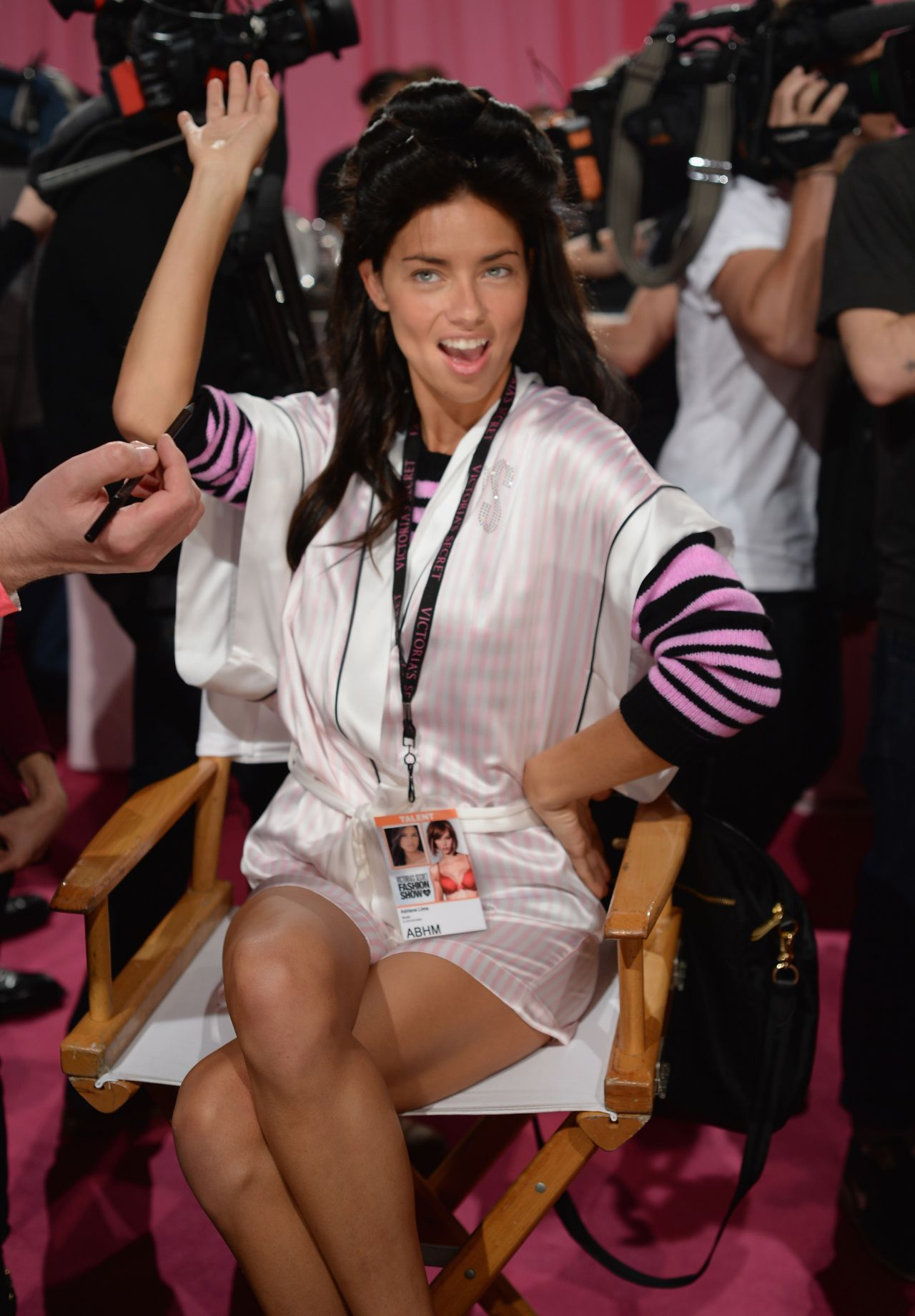 Adriana Lima BackstagePhotos at the 2013 Victoria
