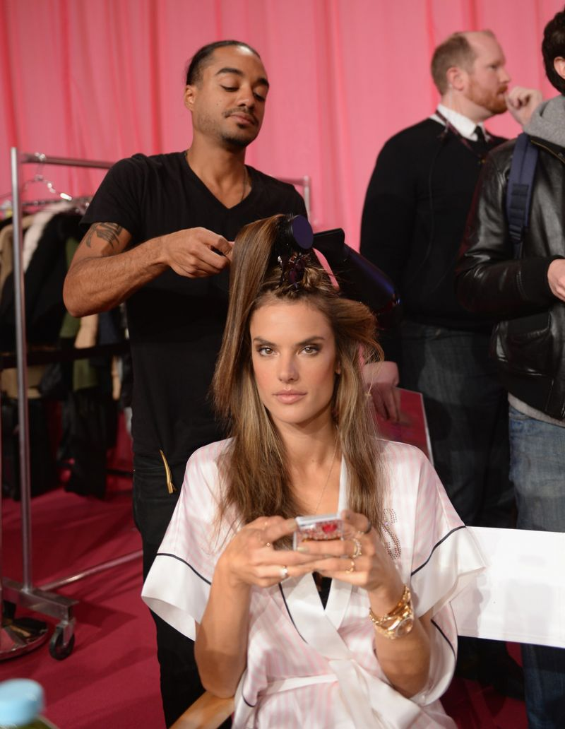 Alessandra Ambrosio Backstage Photos at the 2013 Victoria