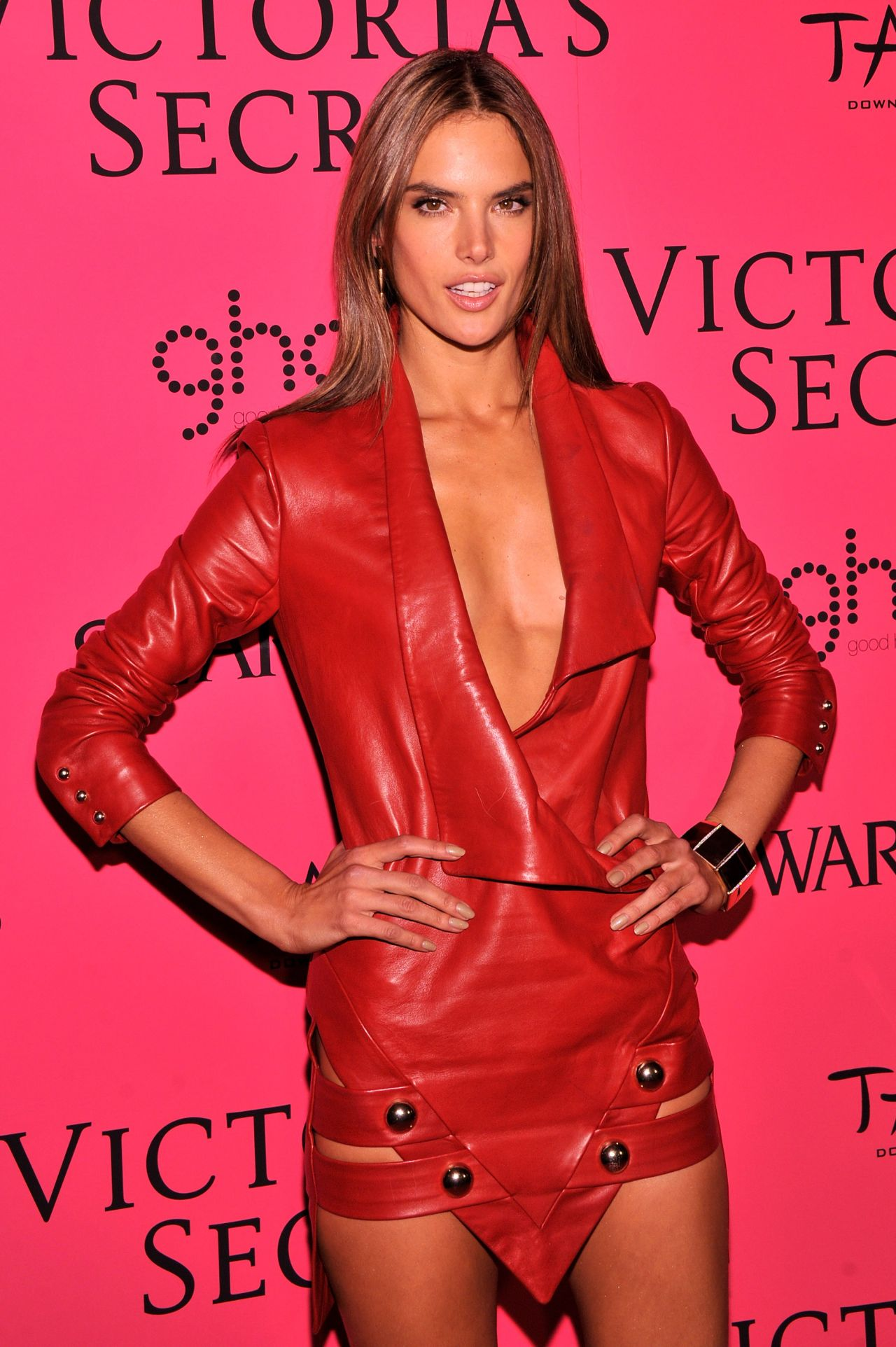 Alessandra Ambrosio in Red on Red Carpet - Victoria