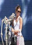 Alessandra Ambrosio Street Style - With a Full Skeleton