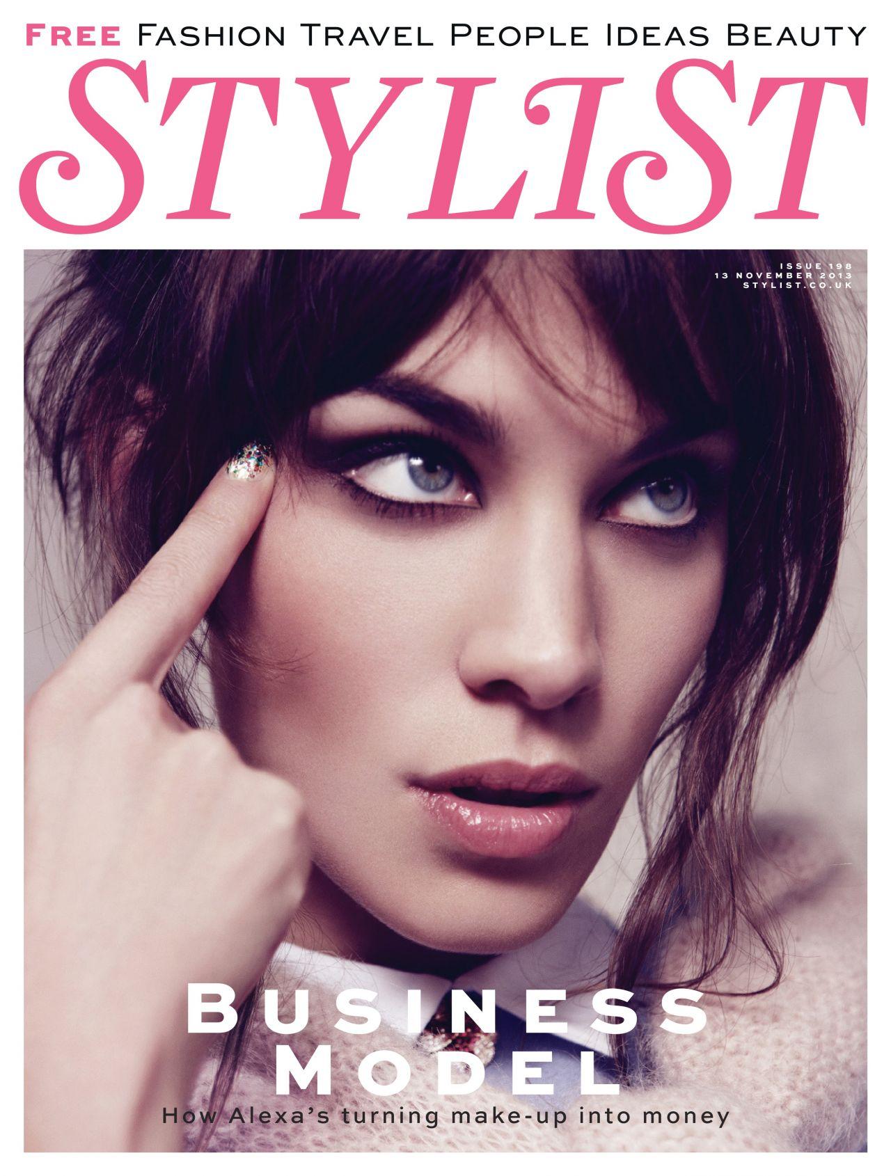 Alexa Chung Stylist Magazine November 2013 Issue