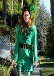Alyson Hannigan Celebrates Halloween as she Strolls in Brentwood With Her Family