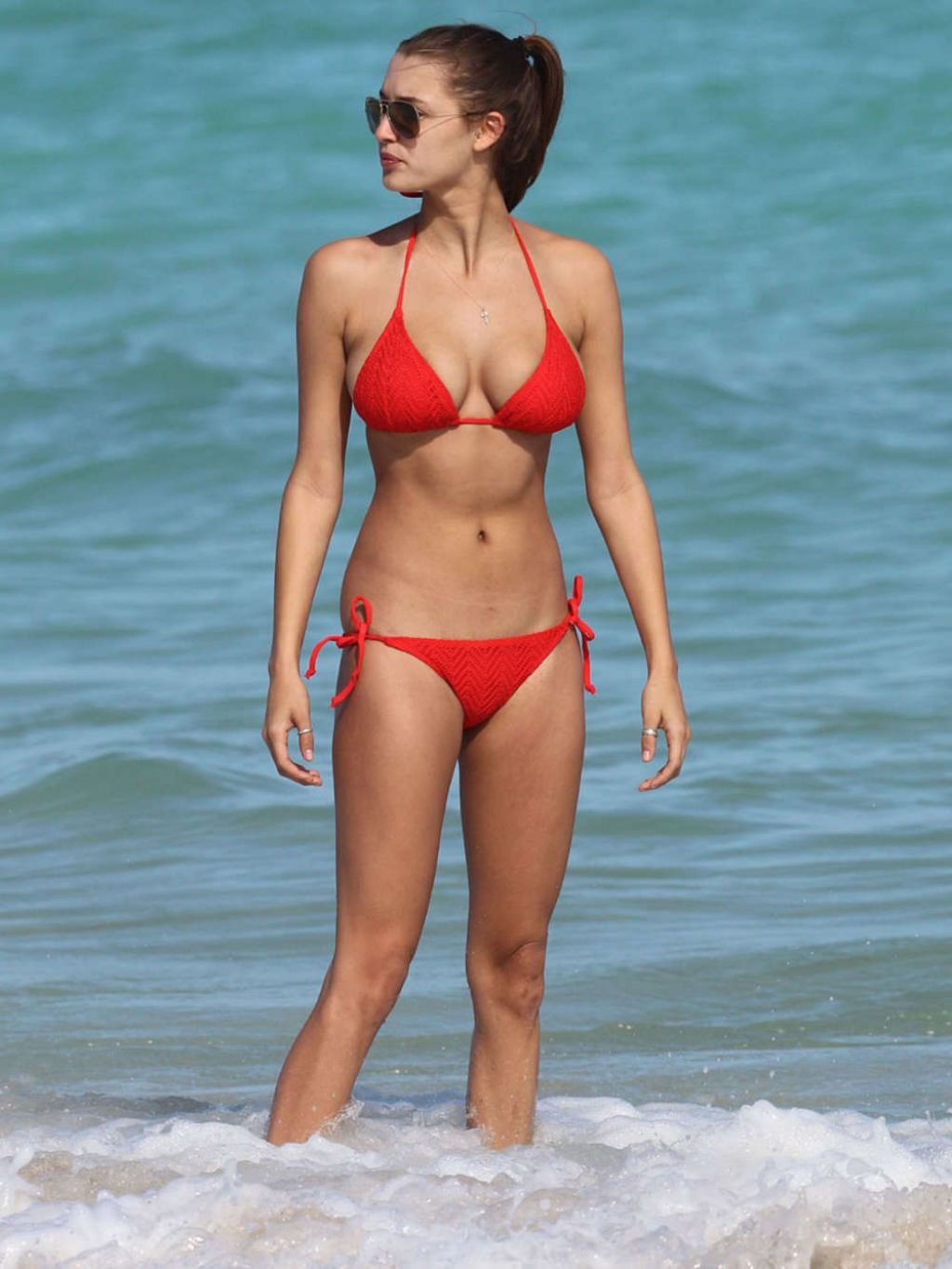 Alyssa Arce In A Bikini On The Beach In Miami November 2013