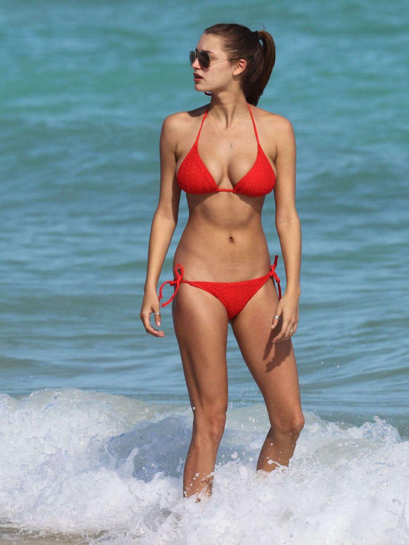 Alyssa Arce In A Bikini On The Beach In Miami November 2013