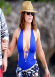 Alyssa Milano in a swimsuit in Hawaii - November 2013