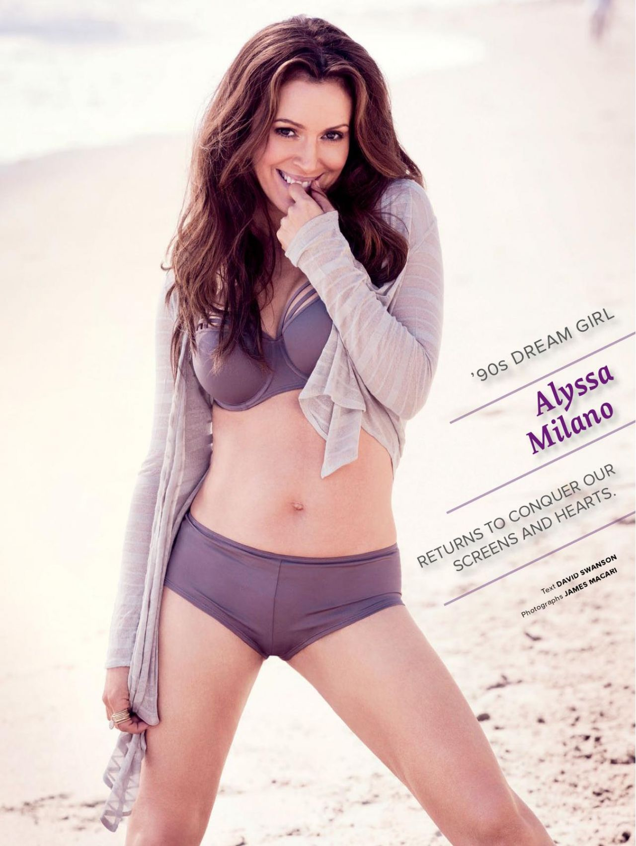 Alyssa Milano - MAXIM Magazine (India) - November 2013 Issue
