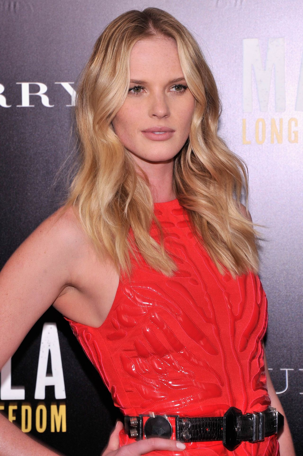 Anne Vyalitsyna on Red Carpet - MANDELA: LONG WALK TO FREEDOM Screening in New York City