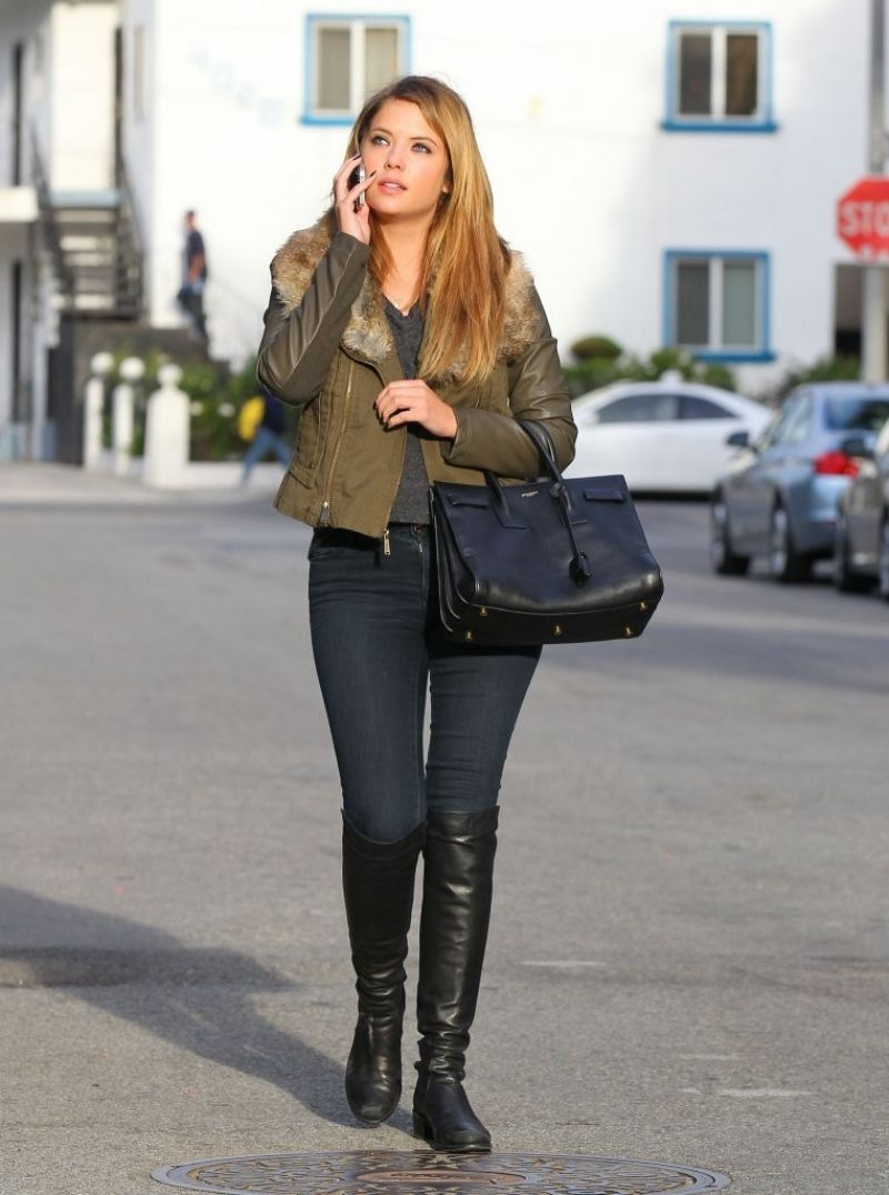 Ashley Benson Street Style - Out in Santa Monica - November 2013