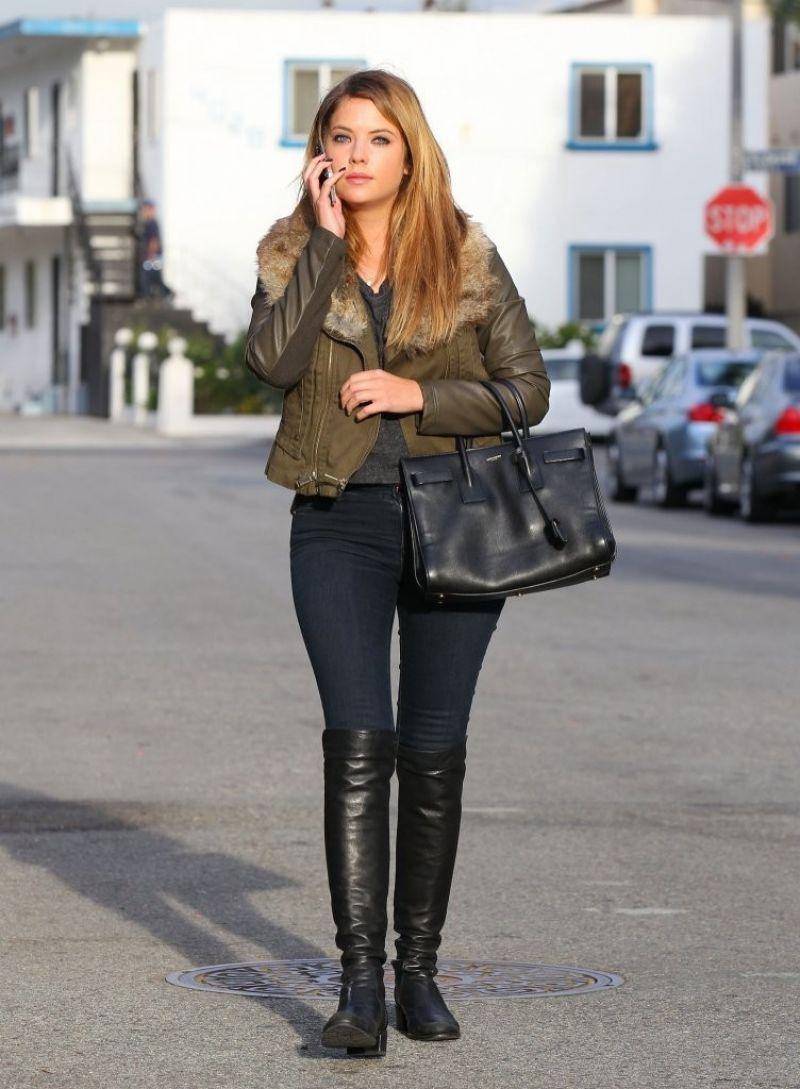Ashley Benson Street Style Out In Santa Monica