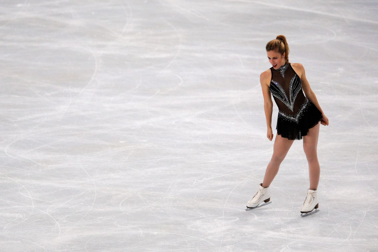 Ashley Wagner at ISU Grand Prix of Figure Skating in Paris - November 2013