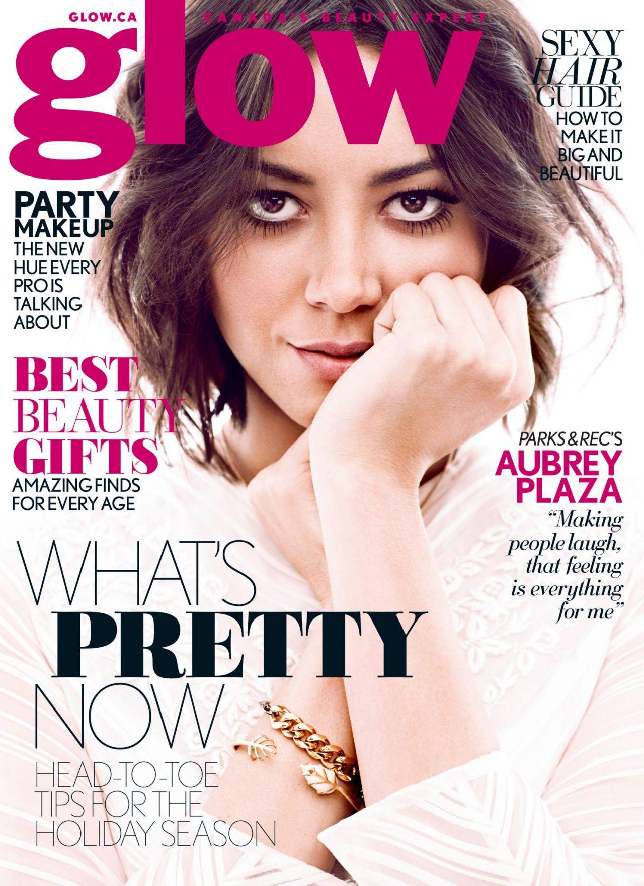 Aubrey Plaza - GLOW Magazine - December 2013 Issue