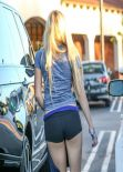 Ava Sambora Street Style - in Tight Shorts