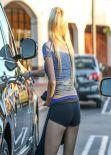 Ava Sambora Street Style - in Tight Shorts