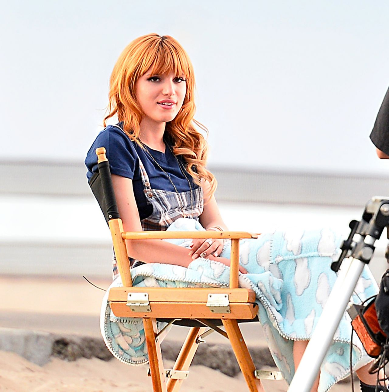 Bella Thorne - On the Set of a Commercial
