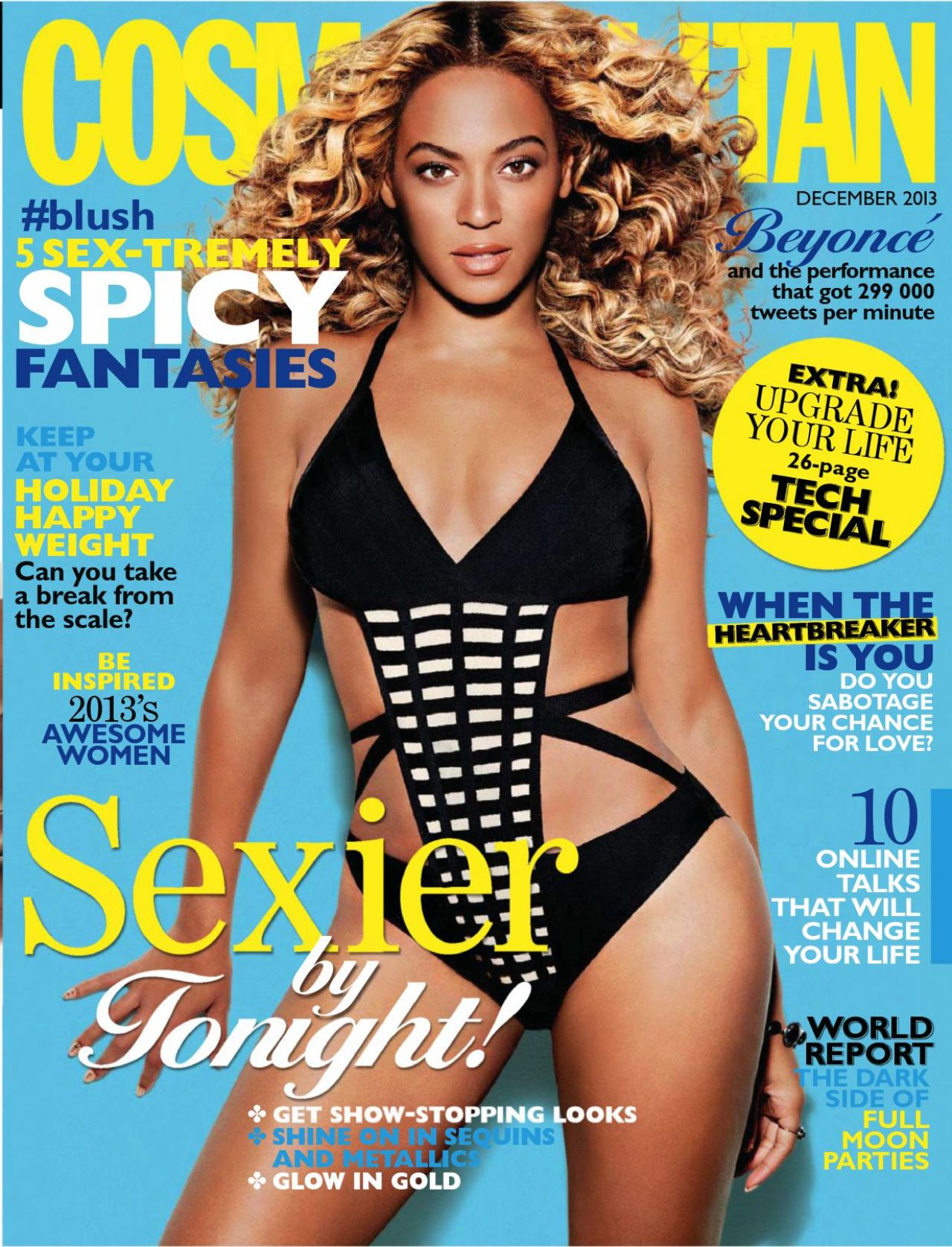 Beyonce Knowles - COSMOPOLITAN Magazine (South Africa) - December 2013 Issue