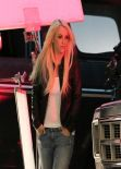 Britney Spears on the Set of Her Music Video for Perfume in Los Angeles