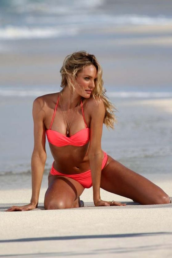 Candice Swanepoel Bikini Photoshoot - Victoria Secret Swim Shoot in St. Barts - Part II