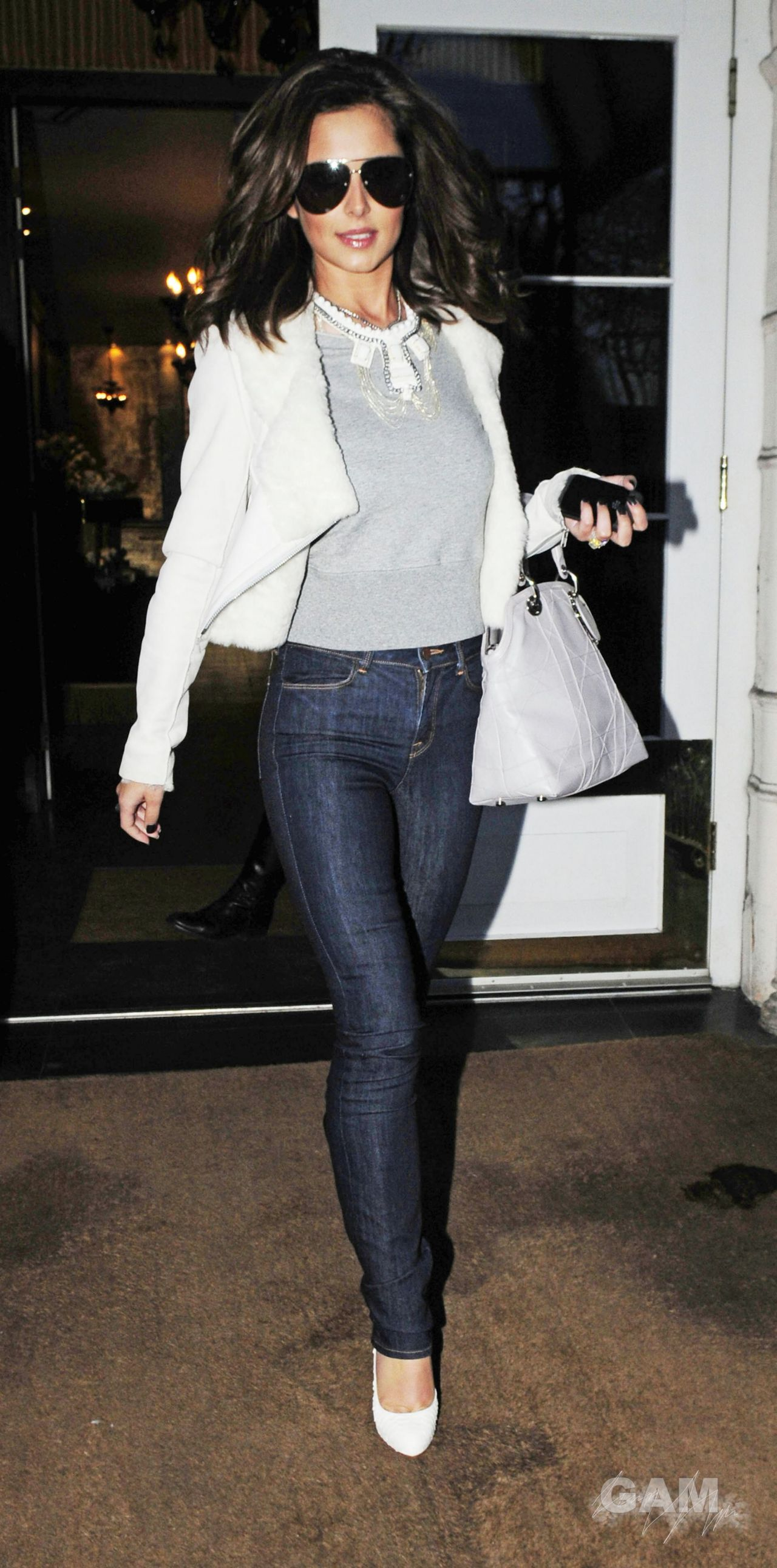 Cheryl Tweedy Cole Street Style Leaving London Hotel