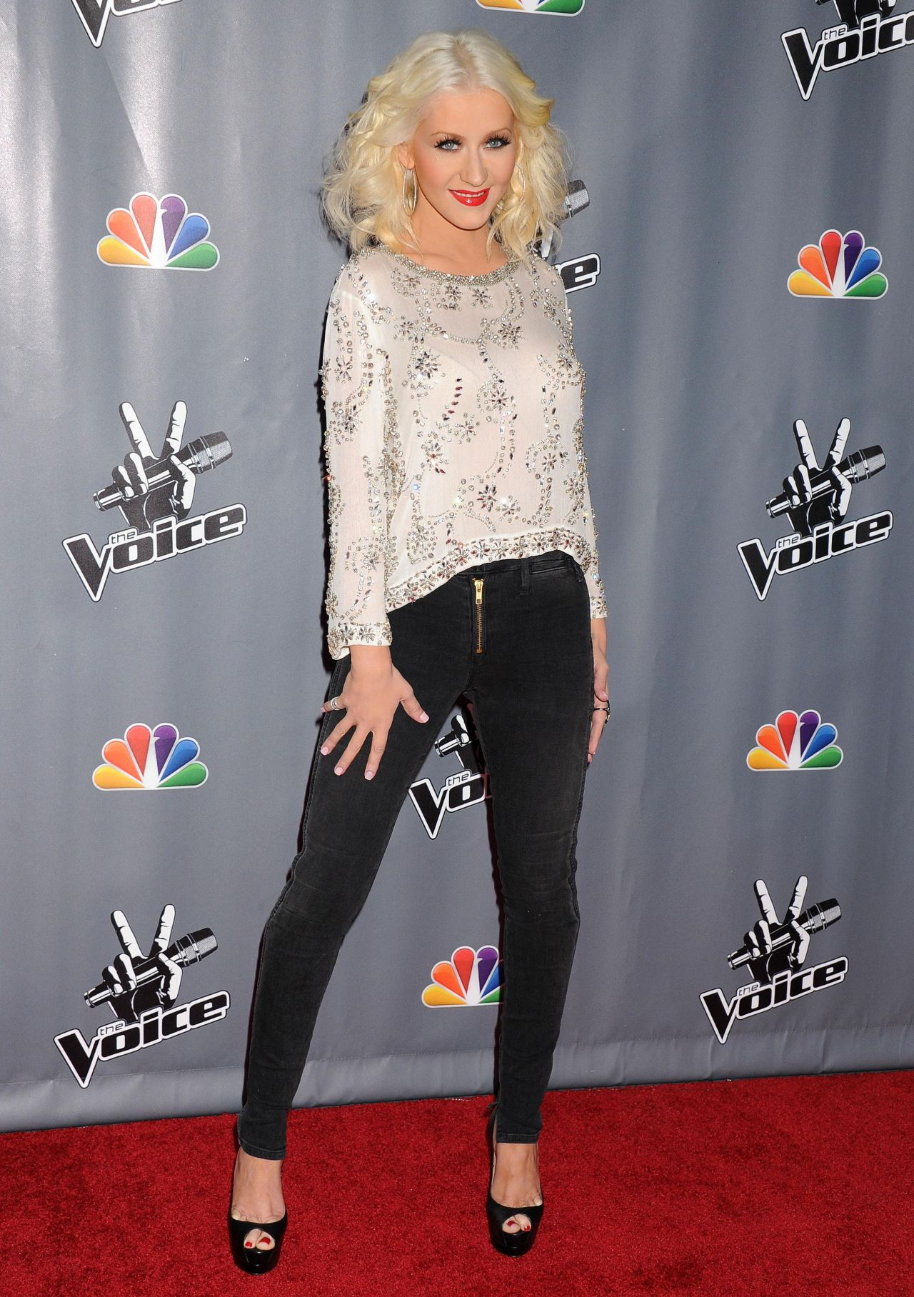 "Christina Aguilera Red Carpet Photos - ""The Voice"" Season 5 Top 12 event Universal City"