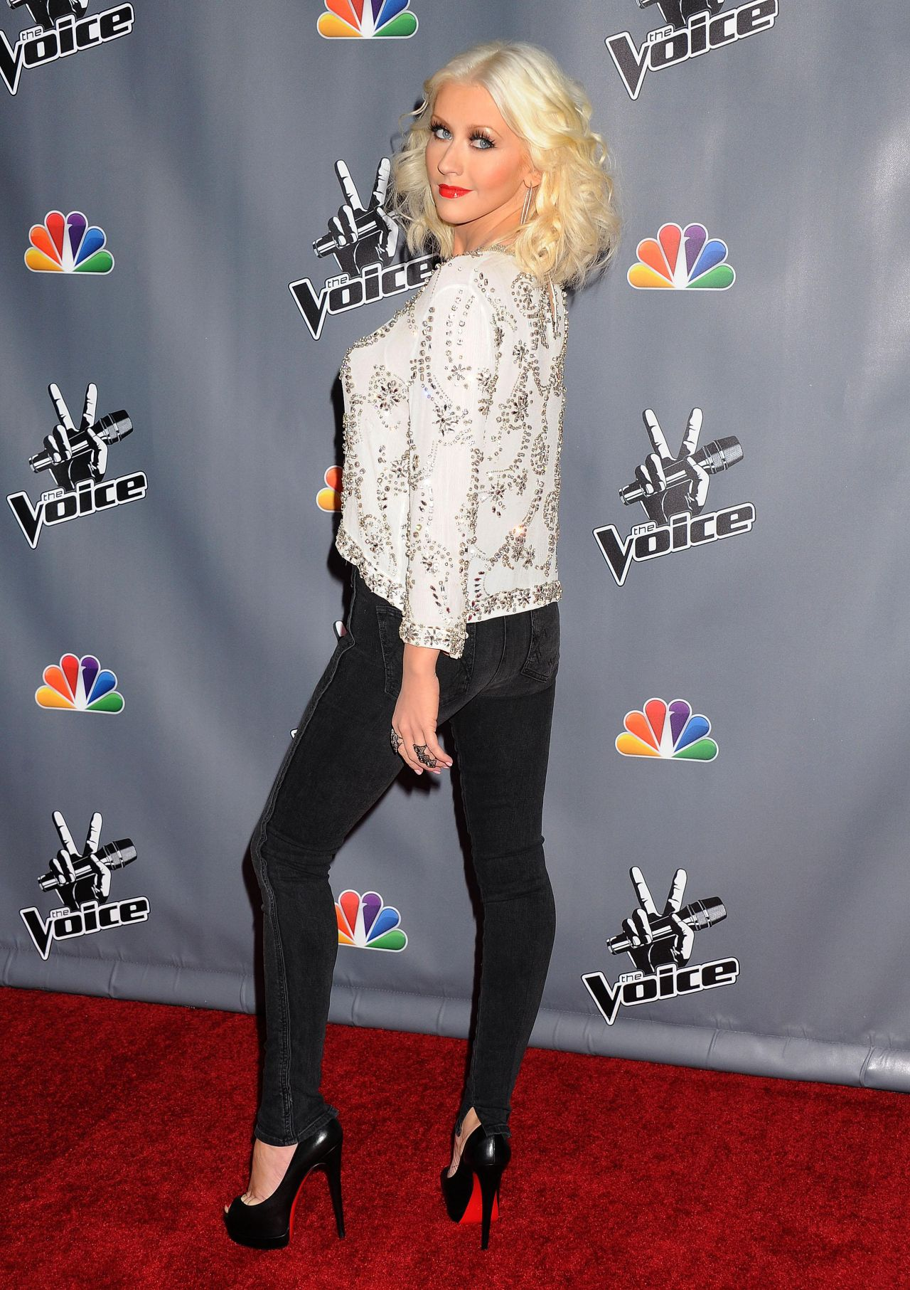 Christina Aguilera Red Carpet Photos Quot The Voice Quot Season