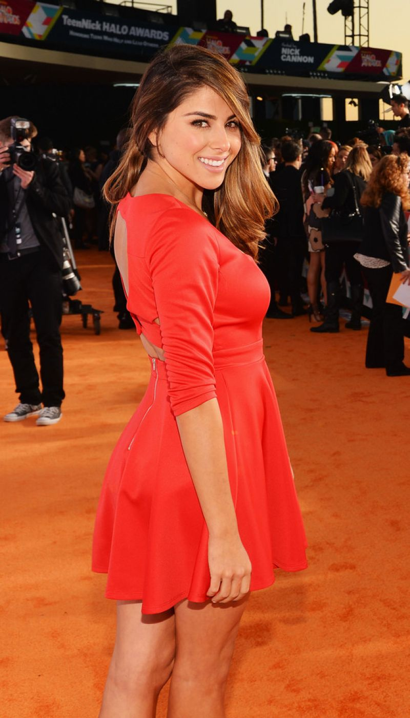 Daniella Monet on Red Carpet - 5th Annual TeenNick HALO Awards - November 2013