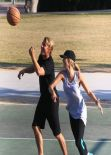 Delta Goodrem Playing Basketball in Los Angeles