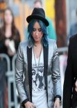Demi Lovato Street STyle - at Jimmy Kimmel Live! in Hollywood - November 2013