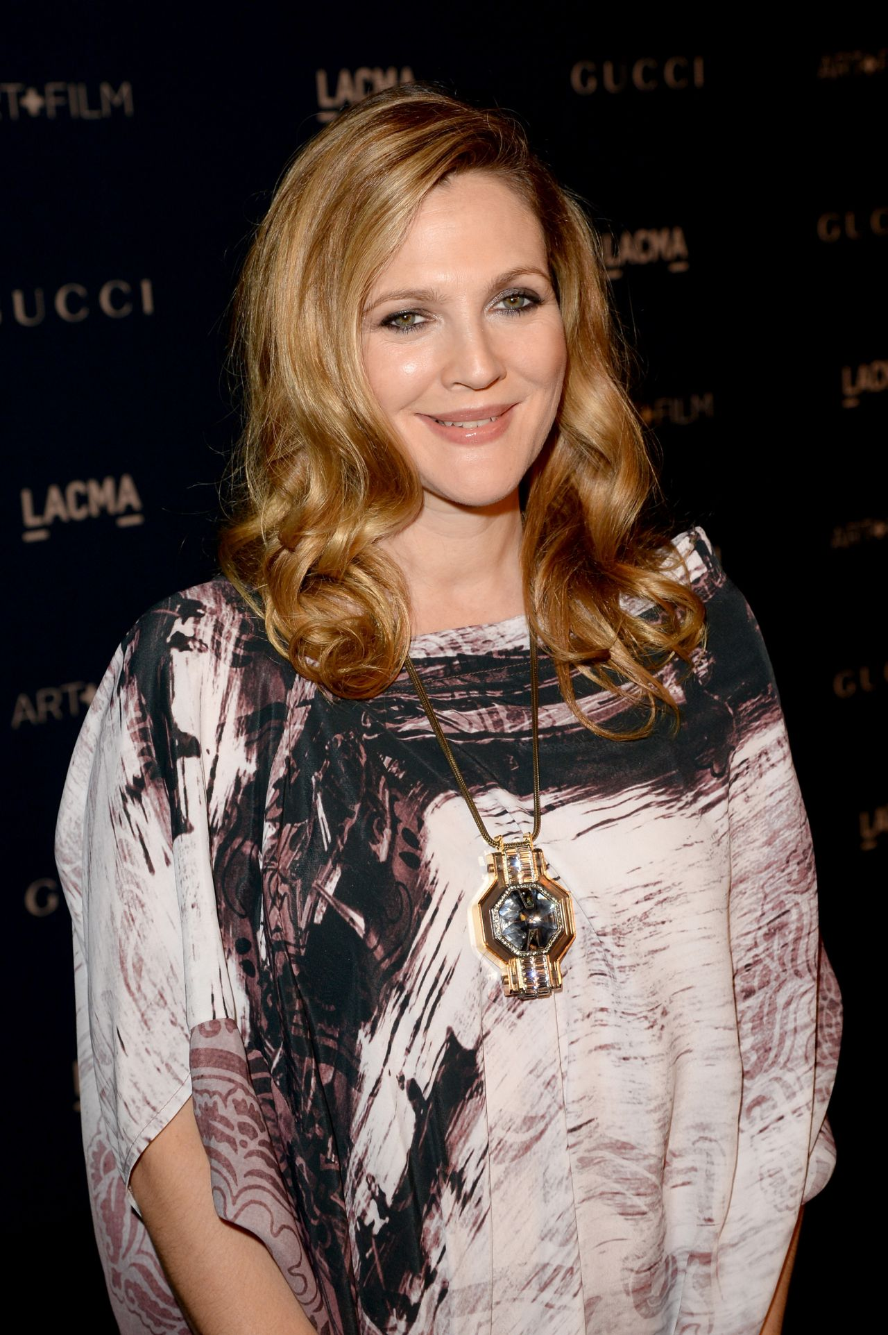 Drew Barrymore on Red Carpet - LACMA 2013 Art and Film Gala in Los Angeles