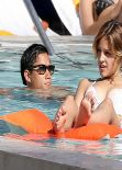 Eiza Gonzalez in a Bikini - Relax Pool Side in Miami - November 2013