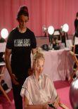 Elsa Hosk – Backstage Victoria's Secret Fashion Show in New York City