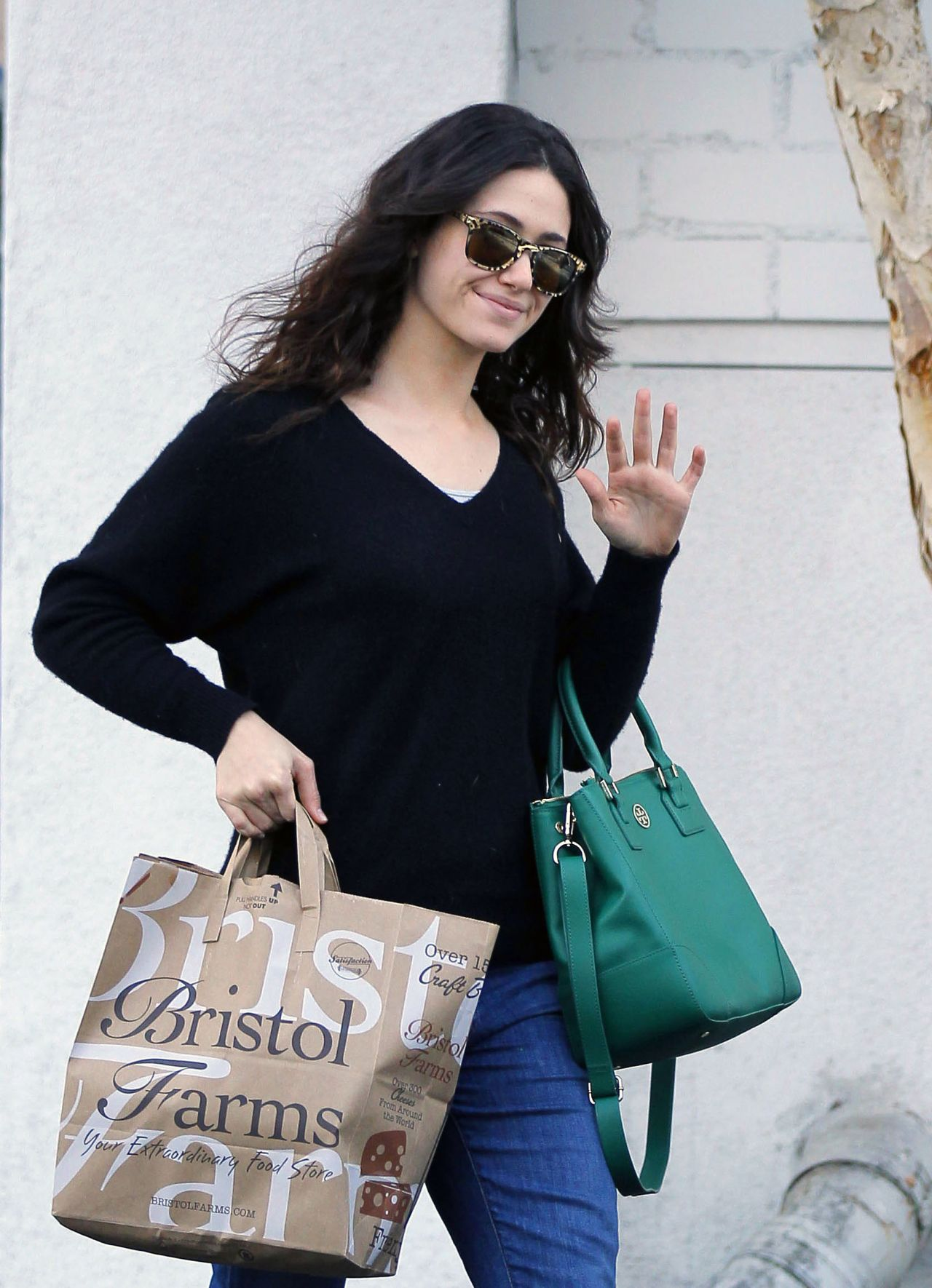 Emmy Rossum Street Style - at Bristol Farms in Los Angeles - November 2013