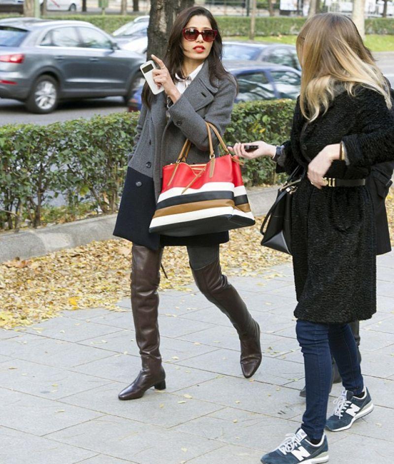November 2013: Freida Pinto Street Style